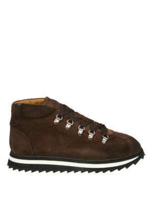 Doucal's: scarpe stringate - Stringate in camoscio con suola dentellata