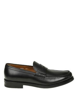 Doucal's: Mocassini e slippers - Classici mocassini neri in pelle