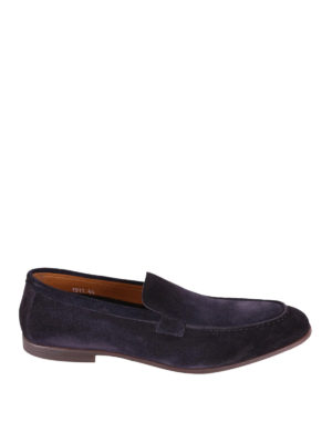 Doucal's: Loafers & Slippers - Blue suede loafers