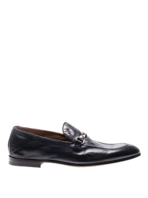 Doucal's: Loafers & Slippers - Blue vintage leather loafers