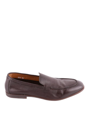 Doucal's: Loafers & Slippers - Brown grained leather loafers