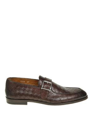 Doucal's: Mocassini e slippers - Mocassini in pelle intrecciata