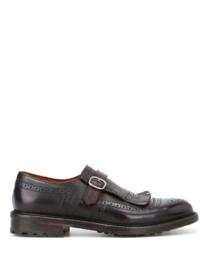 Doucal's: Mocassini e slippers - Scarpe monk strap Delavé in pelle lucida
