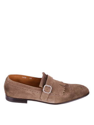Doucal's: Loafers & Slippers - Fringed suede brogue loafers