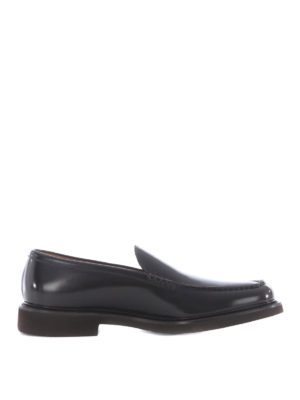 Doucal's: Loafers & Slippers - Glossy leather handmade loafers