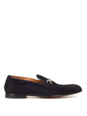 Doucal's: Loafers & Slippers - Light Point blue suede loafers