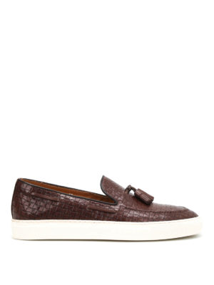 Doucal's: Loafers & Slippers - Mike textured leather loafers