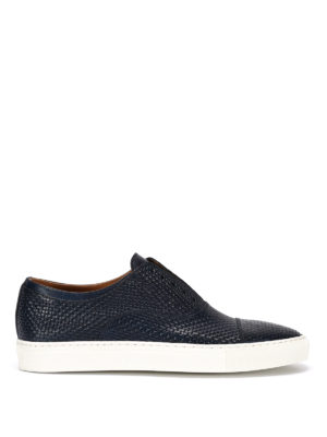 Doucal's: Loafers & Slippers - Mike woven leather slip-ons