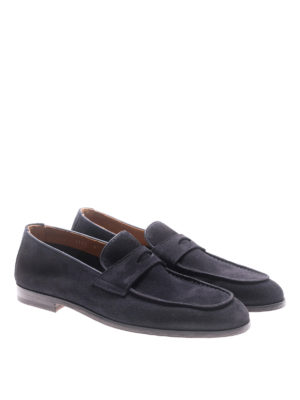 Doucal's: Loafers & Slippers online - Blue suede loafers