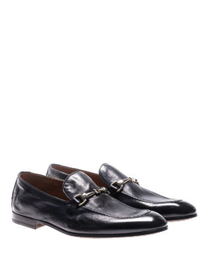 Doucal's: Loafers & Slippers online - Blue vintage leather loafers