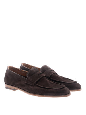 Doucal's: Loafers & Slippers online - Brown suede loafers