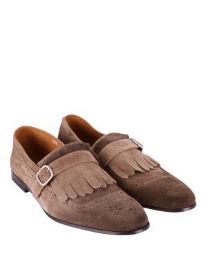 Doucal's: Loafers & Slippers online - Fringed suede brogue loafers
