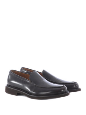 Doucal's: Loafers & Slippers online - Glossy leather handmade loafers