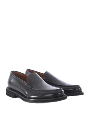 Doucal's: Loafers & Slippers online - Handmade glossy leather loafers