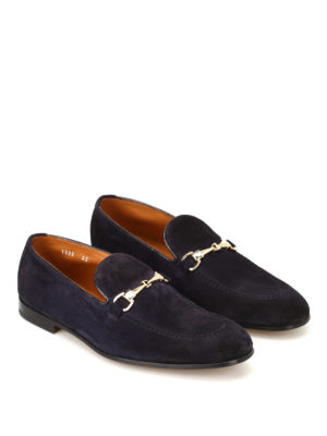 Doucal's: Loafers & Slippers online - Light Point blue suede loafers