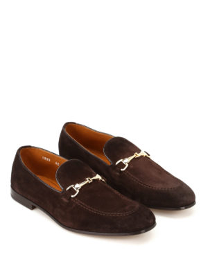 Doucal's: Loafers & Slippers online - Light Point brown suede loafers
