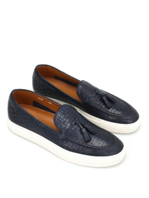 Doucal's: Loafers & Slippers online - Mike textured leather loafers