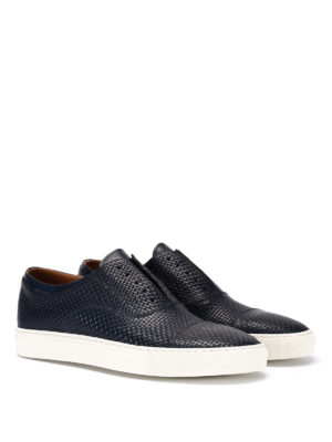 Doucal's: Loafers & Slippers online - Mike woven leather slip-ons