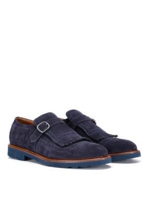 Doucal's: Loafers & Slippers online - Savino suede monk-strap shoes