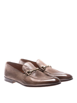 Doucal's: Loafers & Slippers online - Vintage leather loafers
