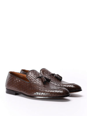 Doucal's: Loafers & Slippers online - Woven leather loafers