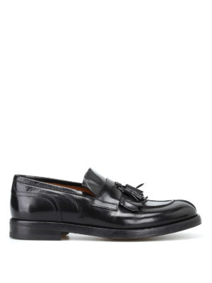 Doucal's: Mocassini e slippers - Mocassini Polo pelle spazzolata con nappine