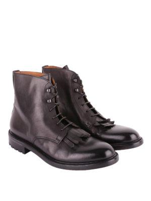Doucal's: stivali online - Stivaletti stringati in pelle con frange