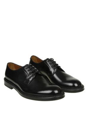 Doucal's: classiche online - Derby stringate in pelle spazzolata nera