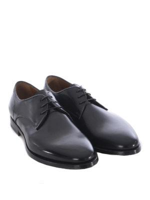Doucal's: classiche online - Derby in pelle spazzolata blu scuro