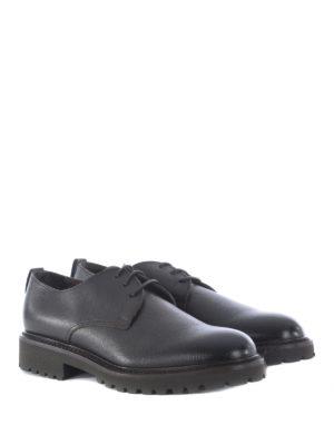 Doucal's: scarpe stringate online - Derby in pelle con carrarmato
