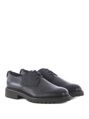 Doucal's: scarpe stringate online - Derby in pelle suola carrarmato