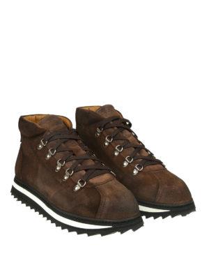 Doucal's: scarpe stringate online - Stringate in camoscio con suola dentellata