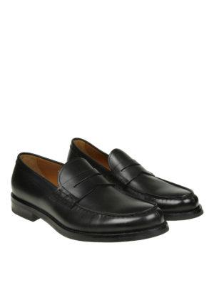 Doucal's: Mocassini e slippers online - Classici mocassini neri in pelle