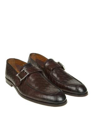 Doucal's: Mocassini e slippers online - Mocassini in pelle intrecciata
