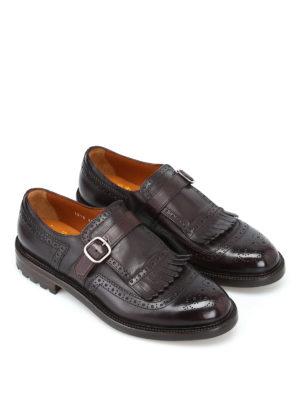 Doucal's: Mocassini e slippers online - Scarpe monk strap Delavé in pelle lucida
