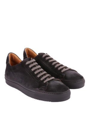 Doucal's: sneakers online - Sneaker in morbido suede color antracite