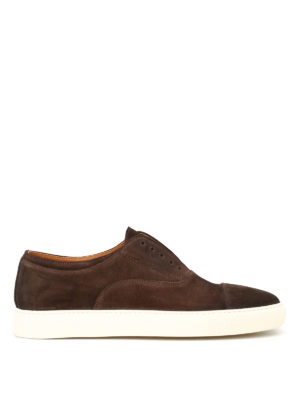 Doucal's: trainers - Bokeh brown suede slip-ons
