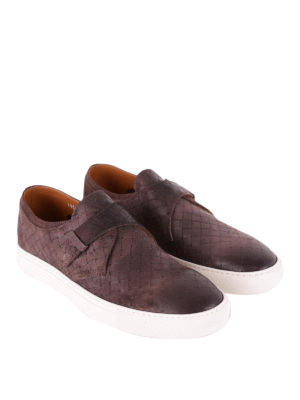 Doucal's: trainers online - Shaded woven leather slip-ons