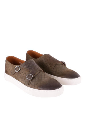 Doucal's: trainers online - Woven leather casual monk straps