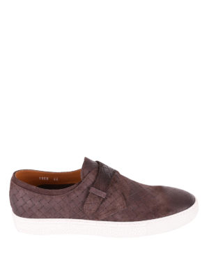 Doucal's: trainers - Shaded woven leather slip-ons