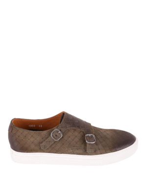 Doucal's: trainers - Woven leather casual monk straps