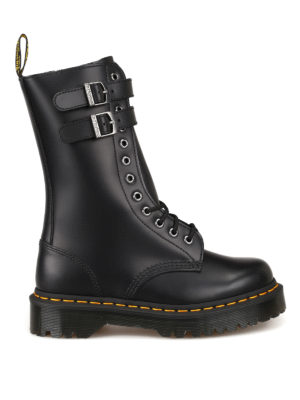 DR. MARTENS: ankle boots - Caspian.Smooth leather combat boots