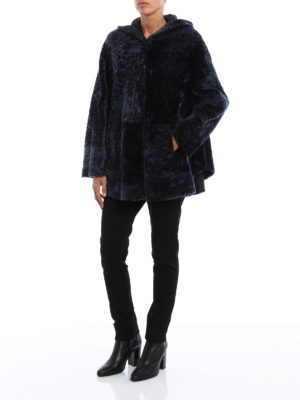 Drome: Fur & Shearling Coats online - Reversible hooded shearling coat
