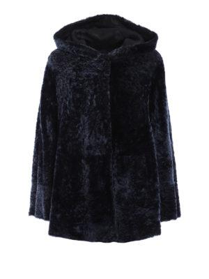 Drome: Fur & Shearling Coats - Reversible hooded shearling coat