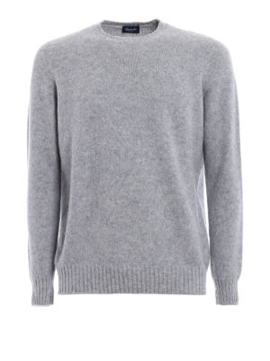 Drumohr: crew necks - Grey lambswool crew neck sweater