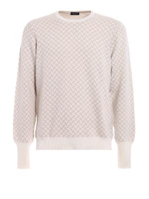 Drumohr: crew necks - Jacquard cashmere sweater