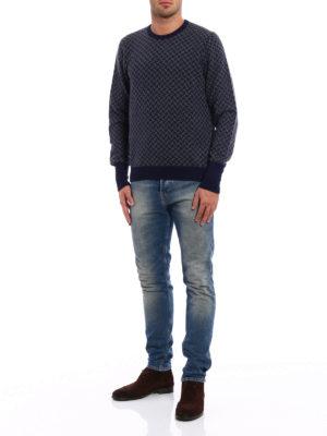 Drumohr: crew necks online - Jacquard cashmere sweater