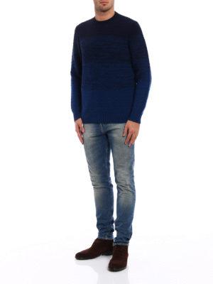 Drumohr: crew necks online - Wool and cashmere shaded sweater