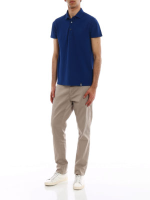 Drumohr: polo shirts online - Vents detail cotton polo shirt