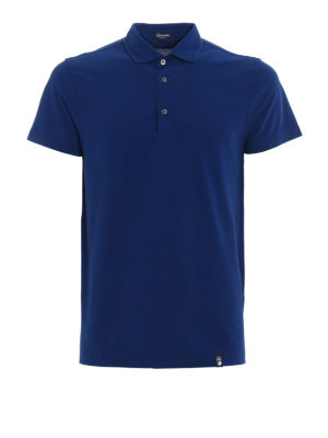 Drumohr: polo shirts - Vents detail cotton polo shirt